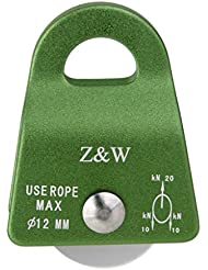 20KN Polea de Cuerda Agarre Protedcta Aluminio para Escalada Montañismo 12mm Verde