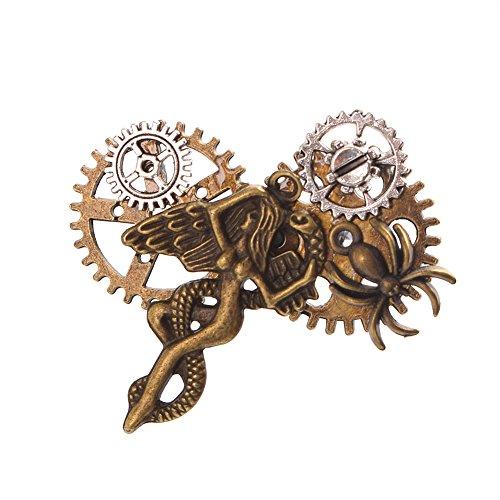 GRACEART Steampunk Getriebe Spinne (Antike Schmuck Kostüm Broschen)