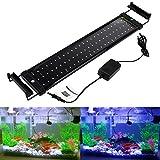GreenSun LED Lighting 11W LED Aquarium Beleuchtung Aquarium Lampe Aquariumleuchte Aufsetzleuchte Weiß Blau Licht Einstellbar für 50-70cm Aquarium