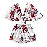 iHENGH Damen Trägershirts Flower Bestickte Strappy Cami Top Bluse Tops Vest Weste Pulli