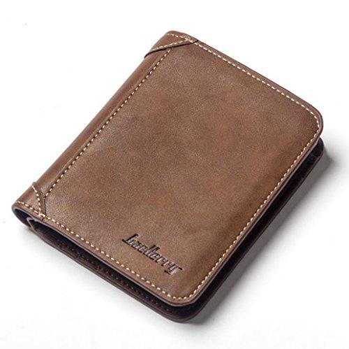 Nekoya® portafoglio uomo di pelle pu con porta moneta e rimovibile porta carte per carte di credito patente di guida carta d'identità, portafogli anti-rfid