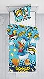 Jerry Fabrics Donald Duck Bett, 1, Gelb, Blau, Schwarz, Weiß, One Size 140x200 + 70x90 cm