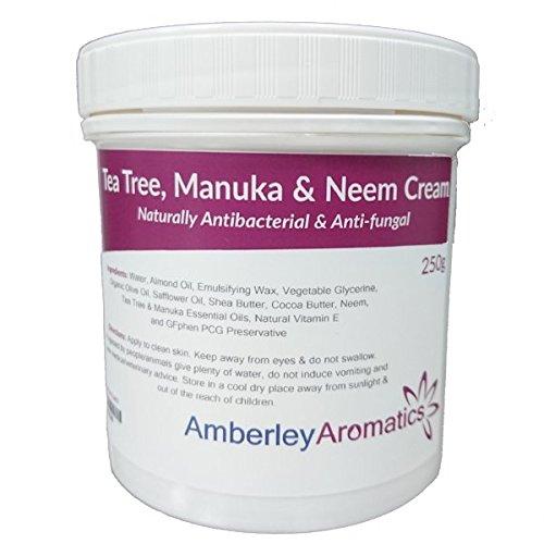 Arbre à thé, Manuka & Neem Crème 250g–antibactérien et antifongique Crème pour la peau