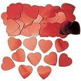 Amscan International Jumbo Hearts Confetti, Red