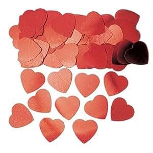 AMSCAN International - Coriandoli grandi a forma di cuore, colore rosso
