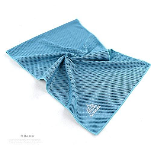 tianu Kühlendes Handtuch,Schnelle Kühlung Sport Handtuch Mikrofaser Stoff Schnell Trockenen Eis Handtücher Fitness Yoga Klettern Übung Outdoor Handtuch (blue) (Eis Angeln Handtuch)