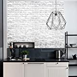 Wokee 1pcs 45 * 45cmTapete Selbstklebend 3D Wandaufkleber Ziegelstein Rustic Effect Selbstklebende Wand Aufkleber Home Decor PVC Verdicht DIY Schaum Wandpaneele