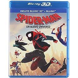 Spider-Man Un Nuevo Universo 3D [SPIDER-MAN INTO THE SPIDER-VERSE 3D] Blu-ray 3D + Blu-ray [Languages: English/ Spanish/ French/ Cantonese/ Mandarin/ Thai] REGION FREE