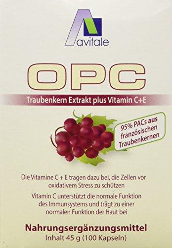 Avitale OPC Traubenkern Vegi-Kapseln - Hochdosiert, 200 Stück