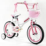 "R BABY PRINCESS PINK GRIL'S BIKES IN SIZE 12"" 14"" 16"" 18"" 20""+ Adjustable removable stabilisers+ front pink basket."