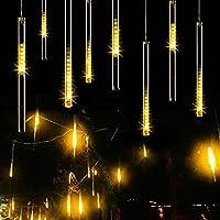 Falling Rain Light, Guaiboshi LED Meteor Shower Light 30cm 8 Tubes USB Powered Icicle Fairy Lights Snow Falling Christmas Lights for New Year Xmas Tree(Warm White)
