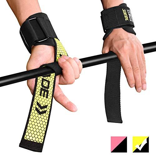 Fitself Zughilfen Handgelenkschutz Herren Damen Stabilität Lifting Straps für Fitness Gewichtheben Powerlifting Bodybuilding Krafttraining