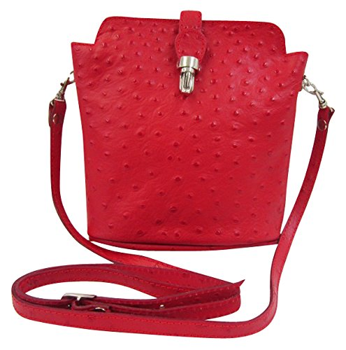 Big Handbag Shop , Borsa Messenger  donna Rosso (rosso)