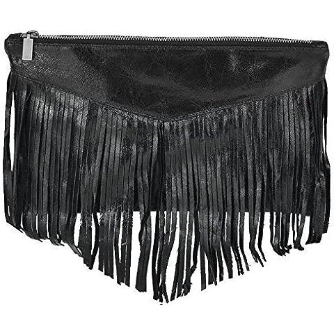 Bags4Less Embrague / Bolso de bandolera con flecos