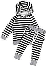 Covermason Bebé Unisexo Encapuchado camiseta Tops y Pantalones (1 conjunto)