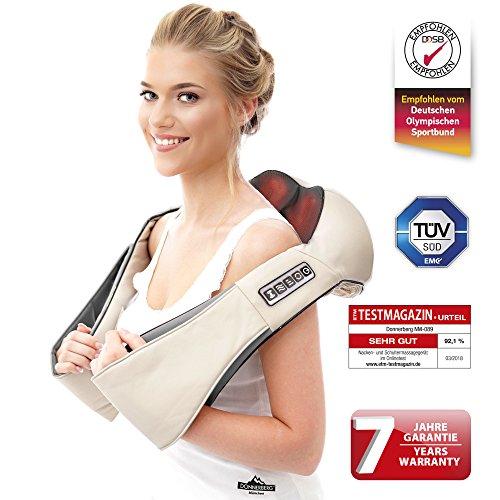 Donnerberg® Massagegerät Das Original Shiatsu Nackenmassagegerät | für Nacken, Rücken und Schultern | mit Wärmefunktion |TÜV Zertifikat | 7 Jahre Garantie | für Zuhause, Büro und Auto mit Autoadapter