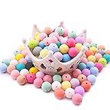 Best for baby 200pcs (12mm) Mischfarbe Natürlich Silikon Perlen BPA frei Ungiftig Baby beißring DIY Halskette Armband Zubehör Baby spielzeug