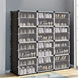 Plegable del gabinete de zapatos Zapatos de estanterías sencillas que ahorran espacio económico de muchas capas de plástico Asamblea de almacenamiento caja de zapatos Zapato Armario con puerta multi-c