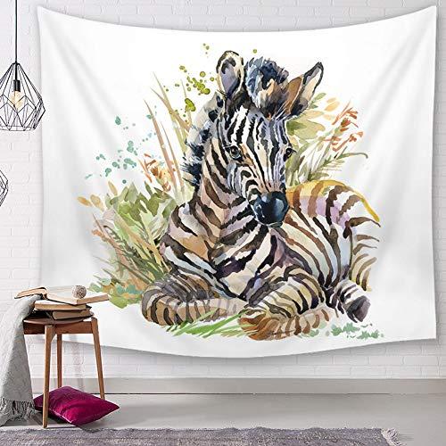XIAOBAOZIGT Tapestry Wall Hanging,Farbe Stil Liegen Zebra Indien Böhmische An Der Wand Hängenden Hippie Psychedelic Plane Yogamatte Forbedroom Home Hängende Dekoration 200 × 150 cm -