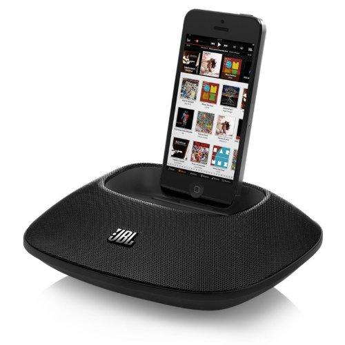 JBL OnBeat Micro tragbarer Lautsprecher Dock mit New Lightning Connector für iPhone 5 - schwarz