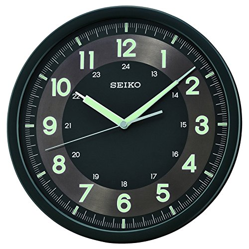 Seiko Wall Clock (31.1 cm x 31.1 cm x 3.9 cm, Black, QXA628KT)