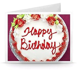 Amazon.de Gutschein zum Drucken (Happy Birthday - Kuchen)