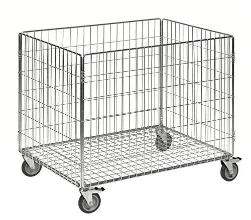 Sport Ballwagen für Volleyball Basketball Fußball etc. | Profi Gitterwagen in Industriequalität | Transportwagen