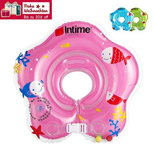 Baby Schwimmring Schwimmreifen für den Hals Schwimmhilfe (Pink)