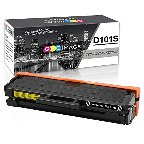 GPC Image MLT-D101S Toner compatibili per D101S(1500 pagine) Samsung ML-2160 ML-2165 ML-2168 SCX-3400 SCX-3405 SCX-3405FW SCX-3405F SCX-3405W ML-2161 ML-2162 ML-2164W ML-2165W ML-2168W SF-760P(1 Nero)