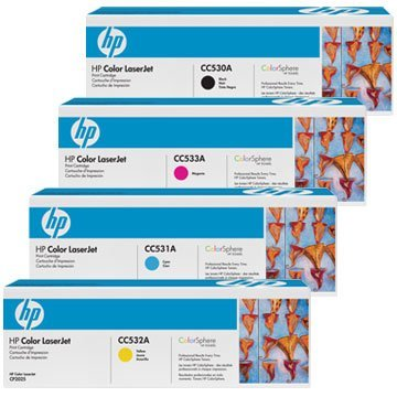 Best Price Hp Full Set includes Laser Toner Cartridge for Colour Laserjet CP2025/ CP2025DN/ CP2025N Printers – Cyan/ Magenta/ Yellow/ Black on Line