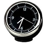 Custom High Accuracy Car Clock Small Round Onboard Quartz Clock Perfect Car Decoration (black dial & black shell) 4*4*4