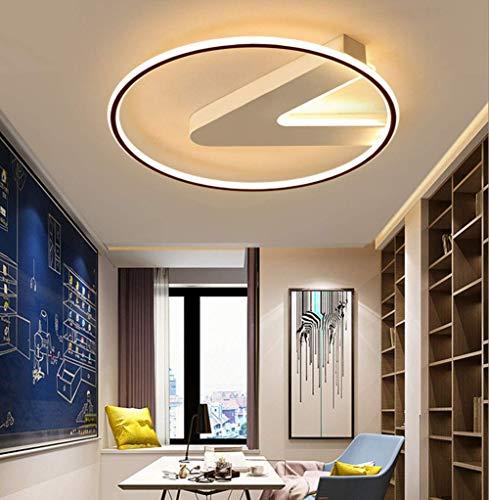 KAD Deckenstrahler - Postmodernes Design Iron Art Deckenleuchte Led Deckenleuchte Schwarz Weiß Rundbuchstabe Icons Deckenleuchte Acryllampe 45Cm / 36W / 110V Dimmen Aluminium Decken
