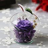 San Valentino, regali lkklily-creative Eternal fiore regalo creativo Apple Fresh rose regalo di compleanno Violet