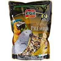 Riga (petfood Menu Premium Perroquets Fruits Noix Doypack de 800 g - Lot de 3