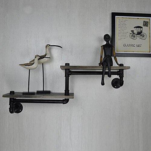Ripiani in legno d'epoca industriale su un muro di ferro tubo della personalità creativa doppia bagno rack-YU&XIN