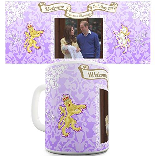 TWISTED ENVY William Kate &Royal mit Royal Baby Princess Charlotte Tasse Keramiktasse (Royal-baby-tasse)