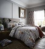 Catherine Lansfield Heritage Stag Duvet Set, Grey, Double