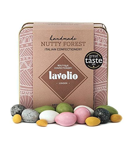 Lavolio Nutty Forest Confectionery Gift Tin (175g) - Premium Selection of Covered Nuts and Luxury Chocolate Sweets, Perfect Present for Him or Her. ...