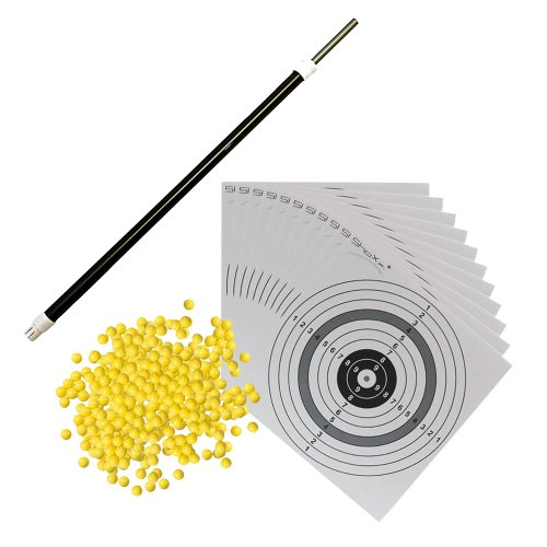 SET: Softair Langwaffen Speedloader und Reparaturhilfe + 1000 Schuss ShoXx.® BB 0,12g + 10 ORIGINAL ShoXx.® shoot-club Zielscheiben mit 250 g/m² des Herstellers shoot-club24
