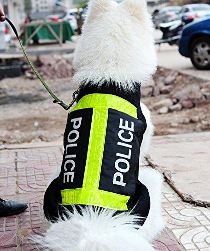 Fengh Polizei Hund Arbeits Weste Haustier atmungsaktiv Reflection Coat (XL)