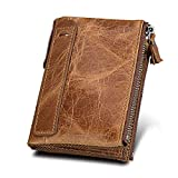 New Imported Contact's Genuine Leather Casual Wallet for Men, Double zipper independent Pocket, according to your needs convenient storage classification, fashion, clear and tidy. Metal zipper, rigorous testing Procedures, fine workmanship and smooth...