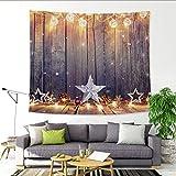 PGYZ Weihnachtsbaum Pfirsich Stoff Tapisserie Weihnachtsdekoration Wand 200X150 (330G)