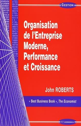Organisation de l'Entreprise, Moderne, Performance et Croissance