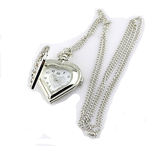 hollow-heart-shaped-pocket-watch-necklace-pendant-chain-silver