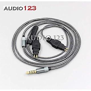 AUDIO123kompatibel Kabel 3,5mm 5N OFC Weiches Kabel mit Mikrofon für Sennheiser HD650HD600HD580HD525HD5651,25m