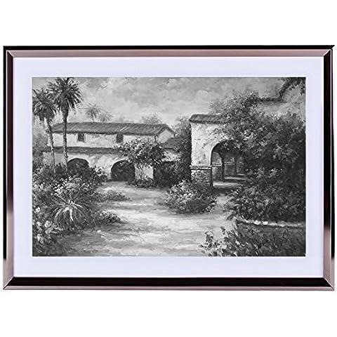 Calor de la Toscana–Póster para la pared Silvery madera enmarcada 16x 12pulgadas, color blanco y