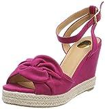 Buffalo Damen 316993 BHWMD B619# IMI SUED Riemchensandalen, Pink (Fuschia 01), 37 EU