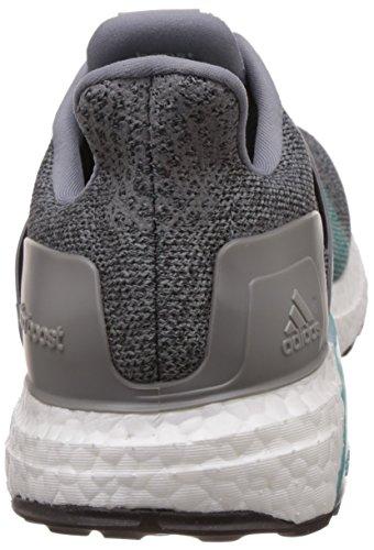 adidas Ultra Boost St M, Chaussures de Running Entrainement Homme, Noir Multicolore - Gris / Negro / Verde (Gris / Negbas / Eqtver)