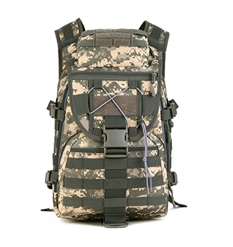 YFNT Militär Schulter Rucksack 42L Tactical Tagesrucksack MOLLE Assault Pack Rucksack Gear Wasserdicht Tasche für Jagd Camping, Jungle Digital -