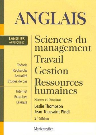 Anglais appliqué : Sciences du Management, Travail, Ressources humaines. Master et Doctorat